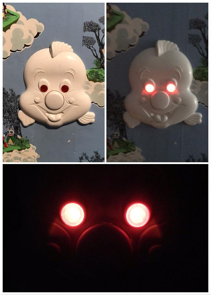 Interruptor de la luz en un cuarto infantil