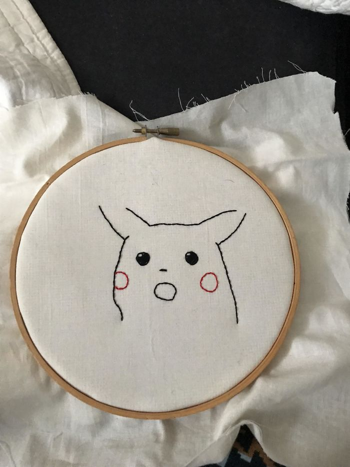 When You Shittily Embroider A Borderline-Dead Meme For Your Husband And He Doesn't Immediately Want To Have Sex With You