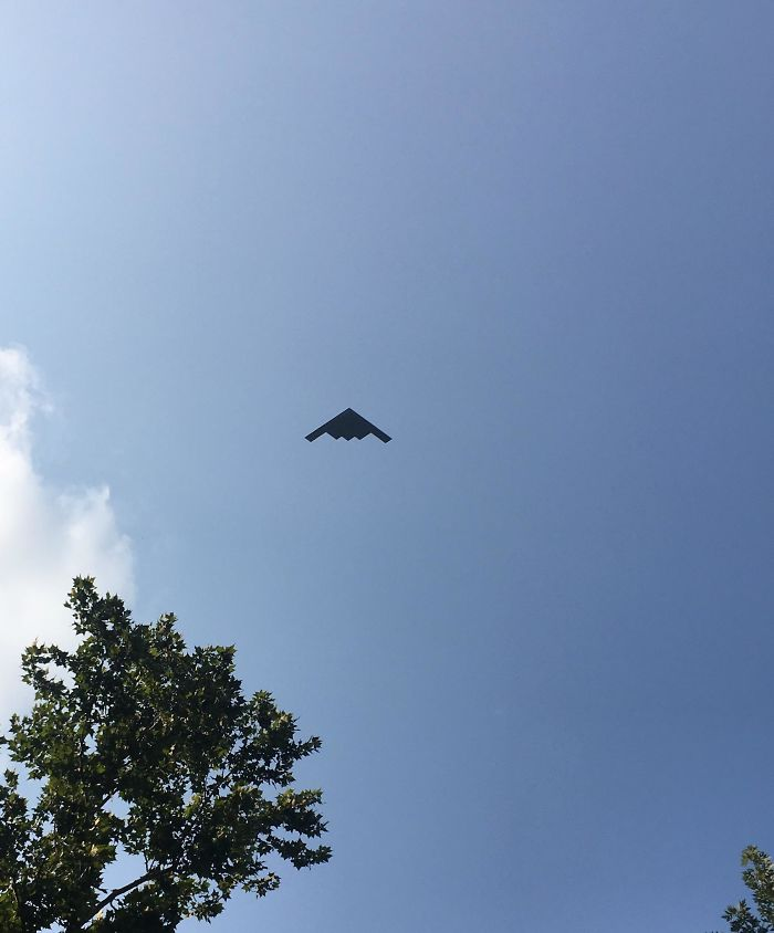 A B2 Flew Directly Over Me Today
