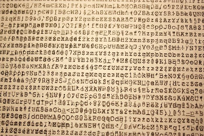 This Paper, Three Times Printed On By A Malfunctioning Printer, Looks Like It's Full Of Ancient Hieroglyphs