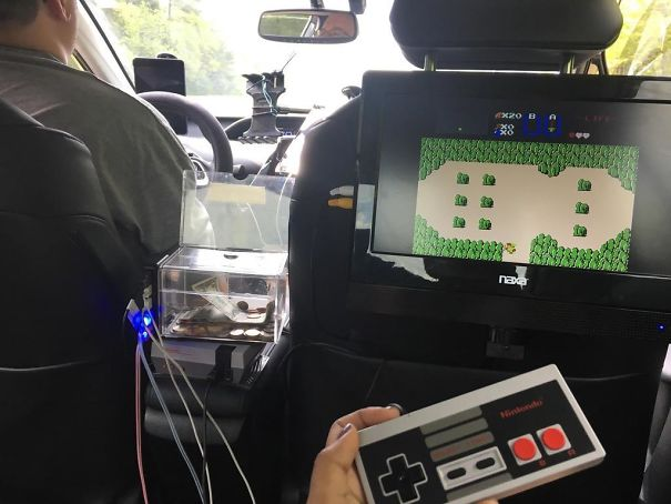 My Uber Driver Had An NES Set Up In The Backseat