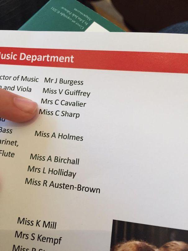 Music Teacher Miss C Sharp