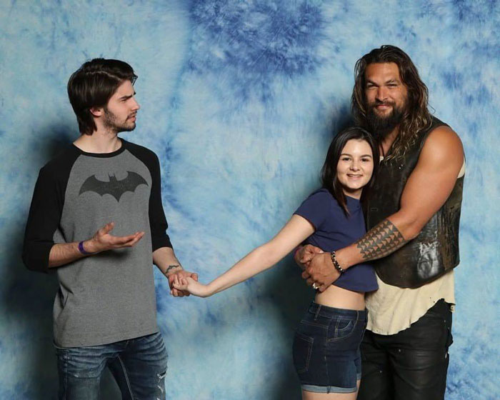 In Light Of The Recent Aquaman News, Here's A Photo Of My Girlfriend And I Meeting Jason At Calgary Expo This Year