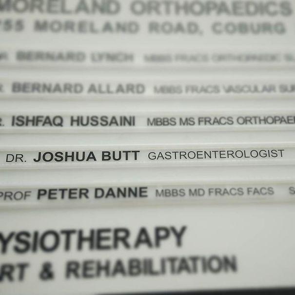 Gastroenterologist Joshua Butt