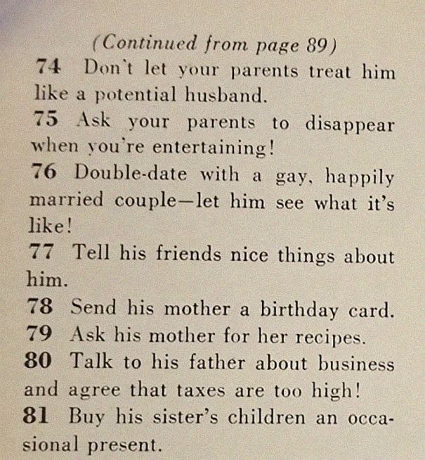This 1950s Magazine List Of '129 Ways To Get A Husband' Is