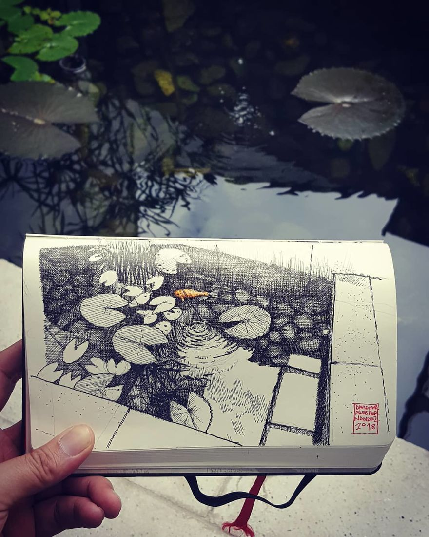 Architect Draws Everything See Around You And The Result Is Amazingly Detailed