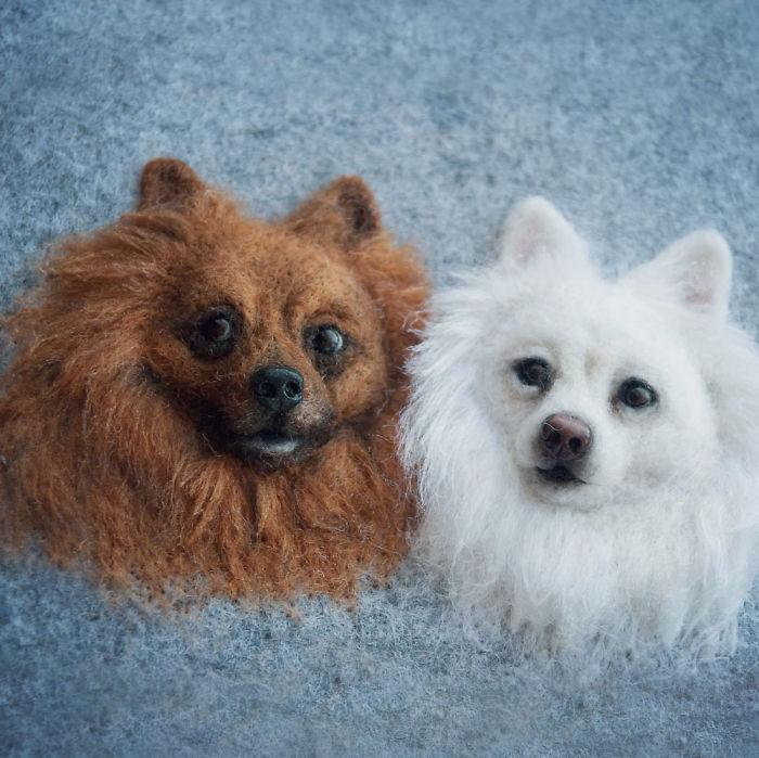 Artist Turns Wool Fibers Into Very Cute Animals