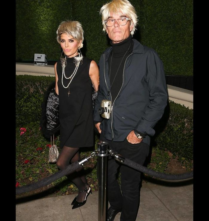 Lisa Rinna And Husband Harry Hamlin As Edie Sedgwick And Andy Warhol