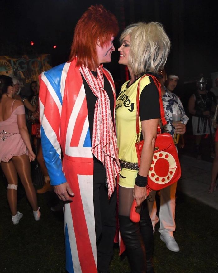 Cindy Crawford And Rande Gerber As Debbie Harry And David Bowie