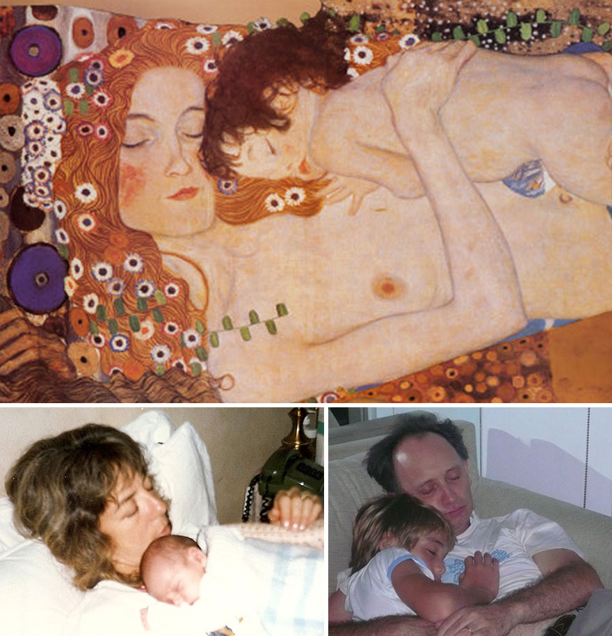 Klimt, My Wife And Myself Sleeping With Son In Arms