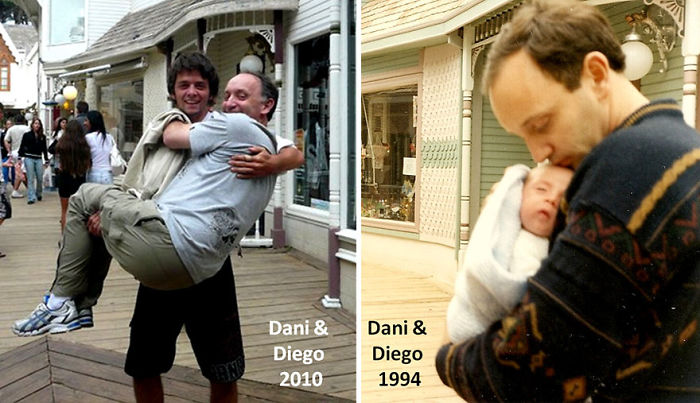 Myself Holding Baby Dani In My Arms And Grown Up Dani Holding Me At The Same Place. This Is Posed