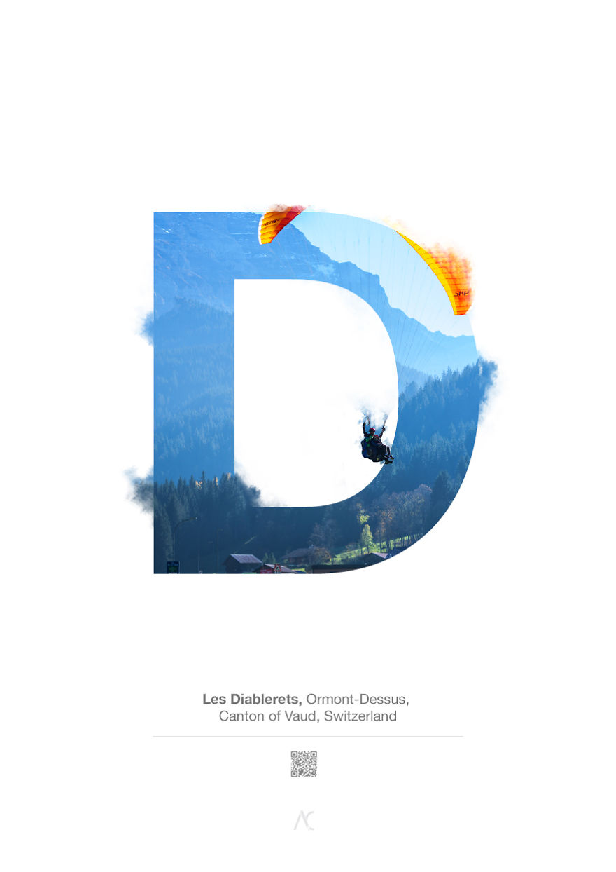 I Made This Swiss Alphabet Combining A Beautiful Landscapes With Typography