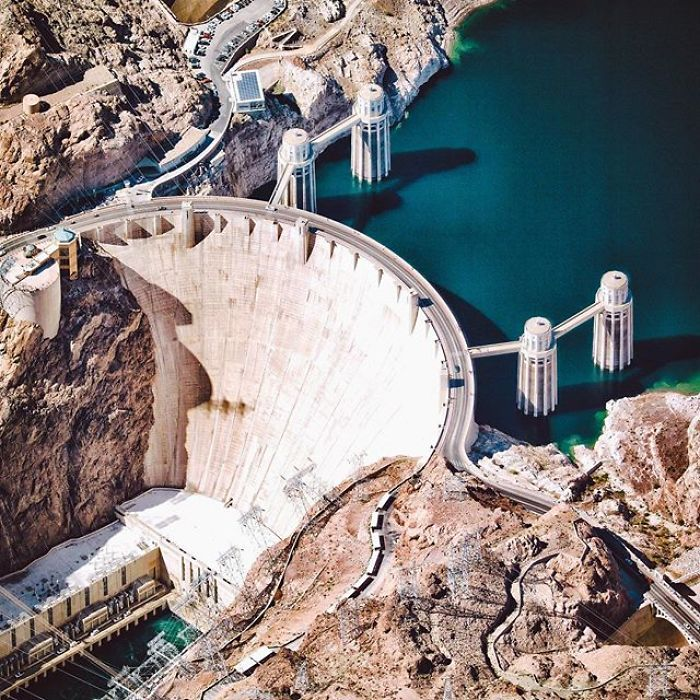 The Hoover Dam, Situated On The Border Of Nevada And Arizona