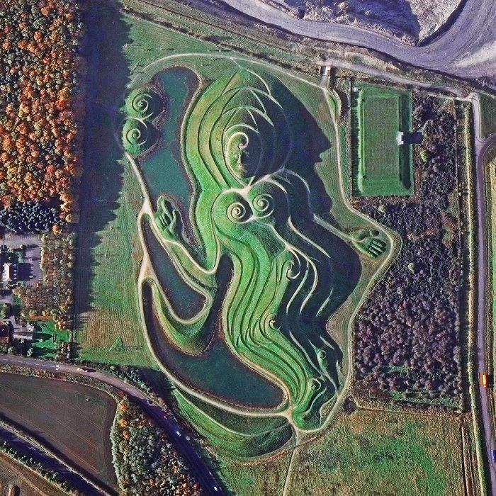 """Northumberlandia, Or """"Lady Of The North"""", Northern England"""
