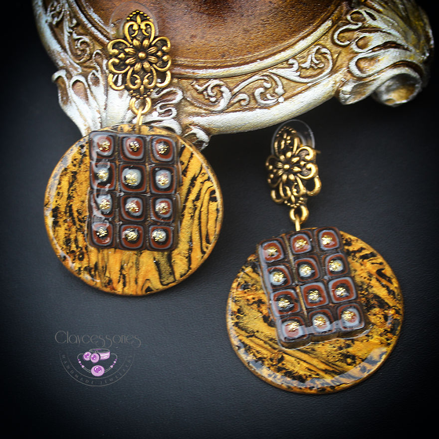 I Use Polymer Clay To Reproduce Fragments Of Gustav Klimt's Paintings