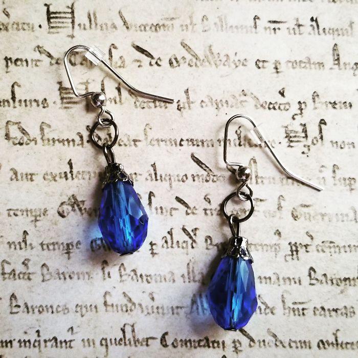 Royal Blue Vintage Earrings
