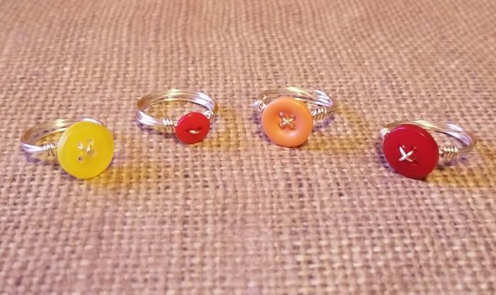 More Button Rings