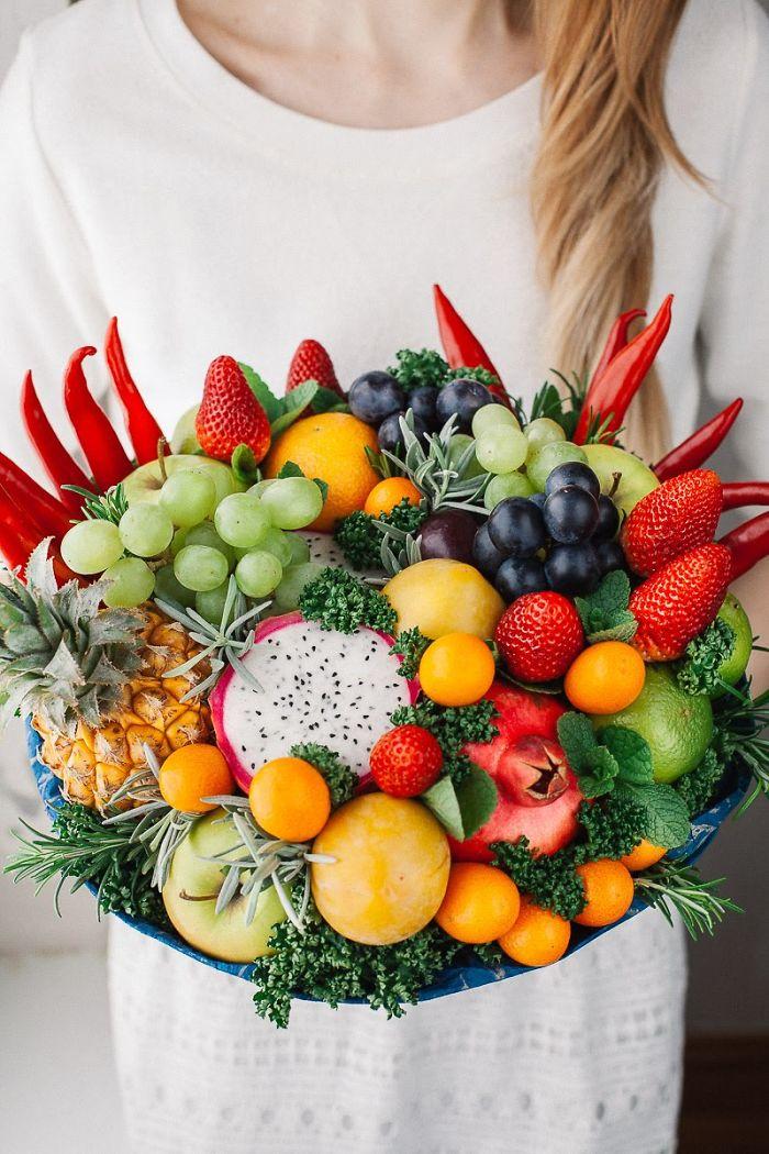 Strawberries, Chilli, Mini Pineapple, Lime And Kumquats