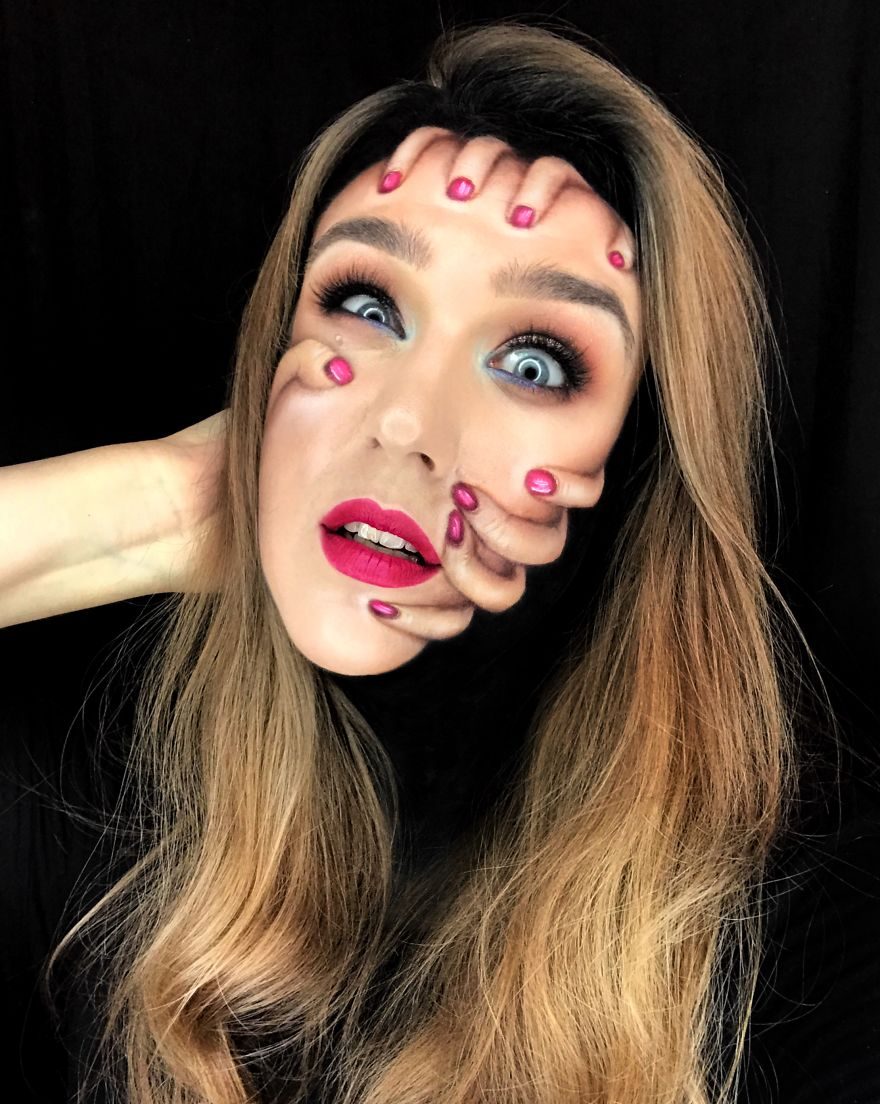I Use My Own Face And Body As A Canvas To Create Unique Looks And Illusion Makeup