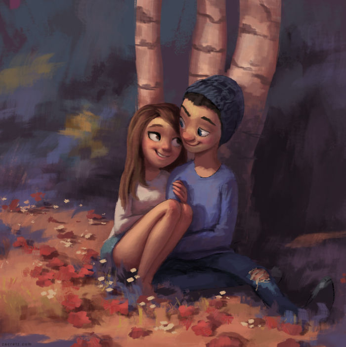 Illustrator Shows In Adorable Images The True Meaning Of Love Between Couples