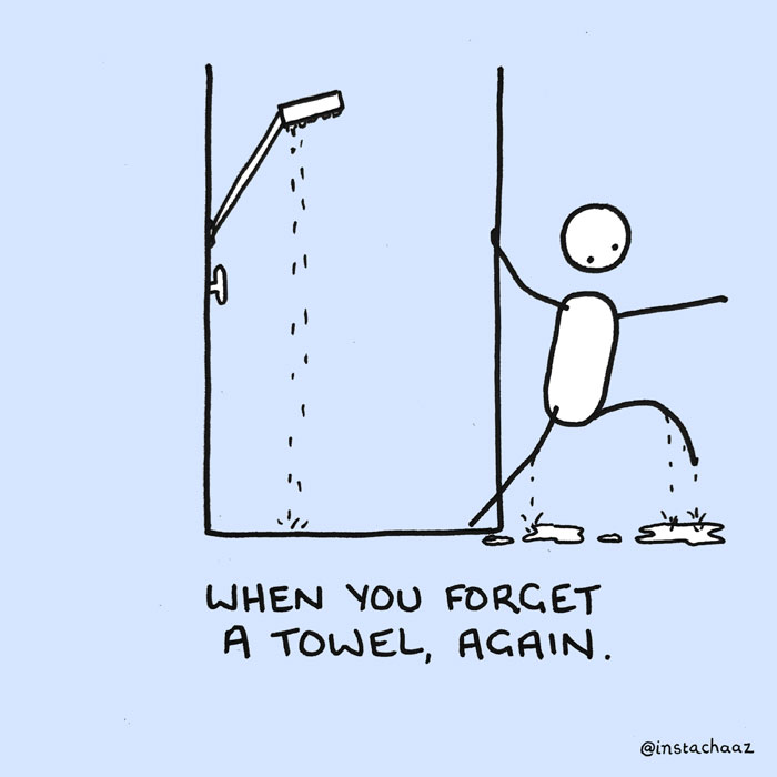 Guy Illustrates 10 Shower Moments We All Have In The Shower
