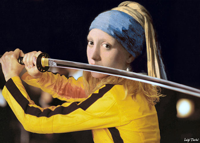 "Vermeer's ""Girl With A Pearl Earring"" & Kill Bill's Beatrix Kiddo"