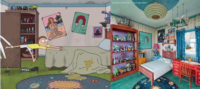 Designer Creates Real Life Version Of 6 Popular Cartoon Bedrooms