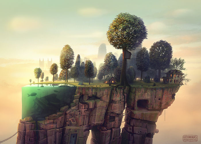 This Artist Creates Surreal Worlds That You Would Want To Go Them