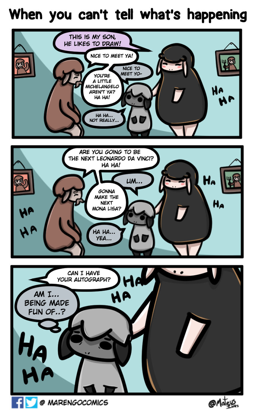 I Started These Comics To Focus On My Shyness, Here Are 25 Comics About A Timid Sheep Fighting To Overcome Insecurities