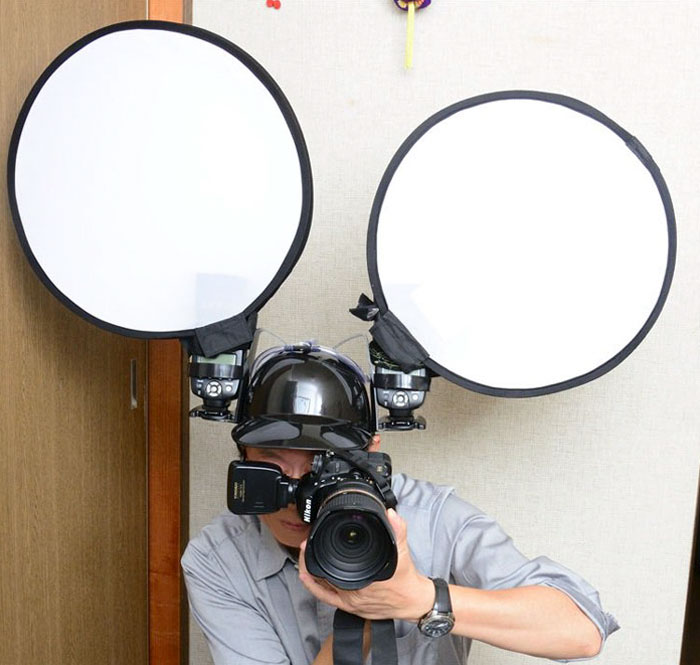 Photographer Uses Beer Helmets For His Flashes, Proves Japanese People Are Not Like The Others