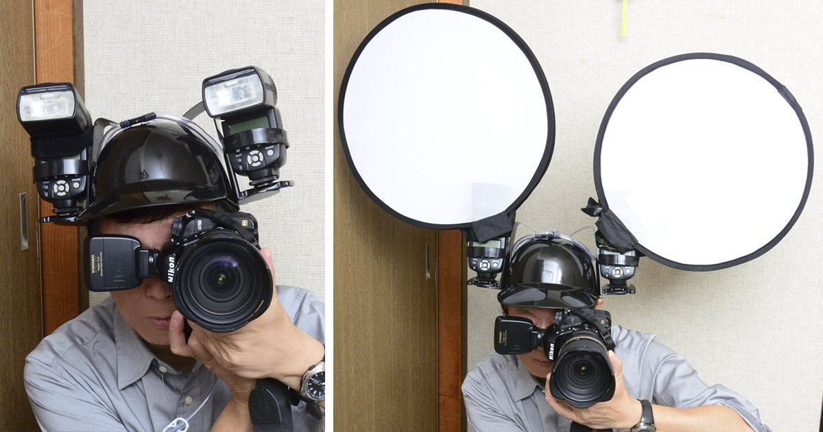 Japanese Photographer Finds A Genius Way To Use A Beer Helmet