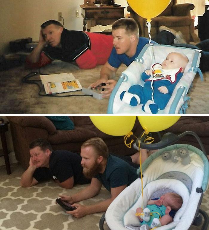 1st Gen (1989): Me, My Dad, And My Grandpa Playing Zelda On Nes. 2nd Gen (2016): My Son, Me, And My Dad Playing Zelda On Nes On Wiiu