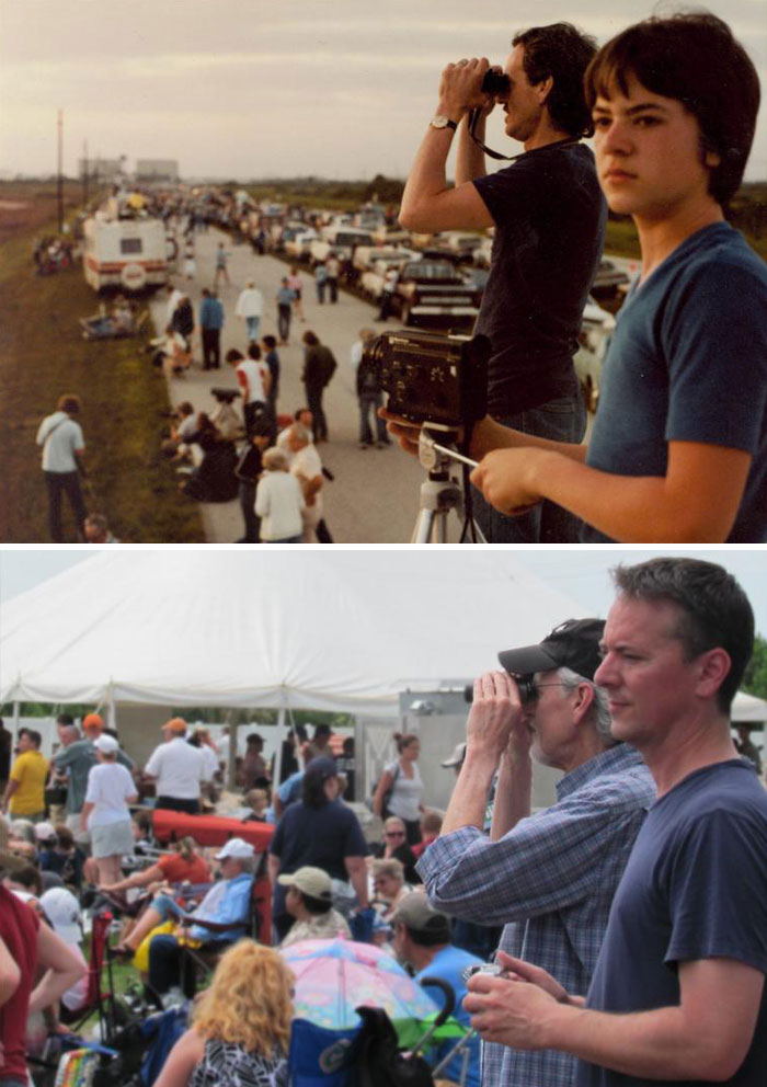 Father And Son, The Very First And Last Space Shuttle Launch, 30 Years Apart