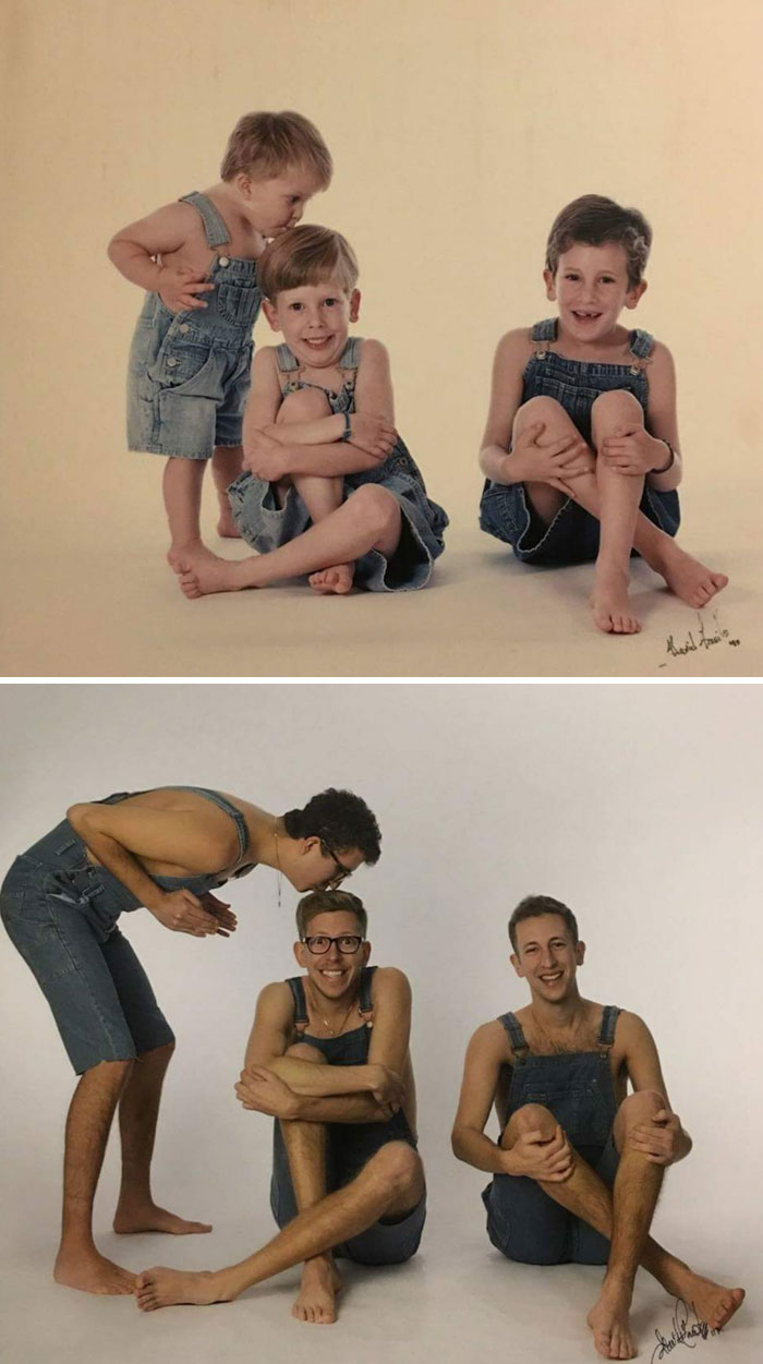Exactly 20 Years Later, We Went Back To The Same Photographer To Surprise Our Parents With A Gift