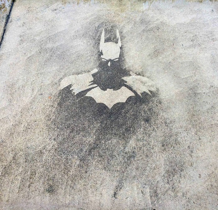 This Was Done While Power Washing A Pavement