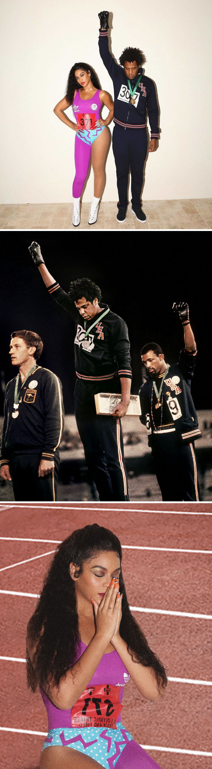 Beyoncé As Olympian Florence Griffith Joyner And Jay-Z As Tommie Smith
