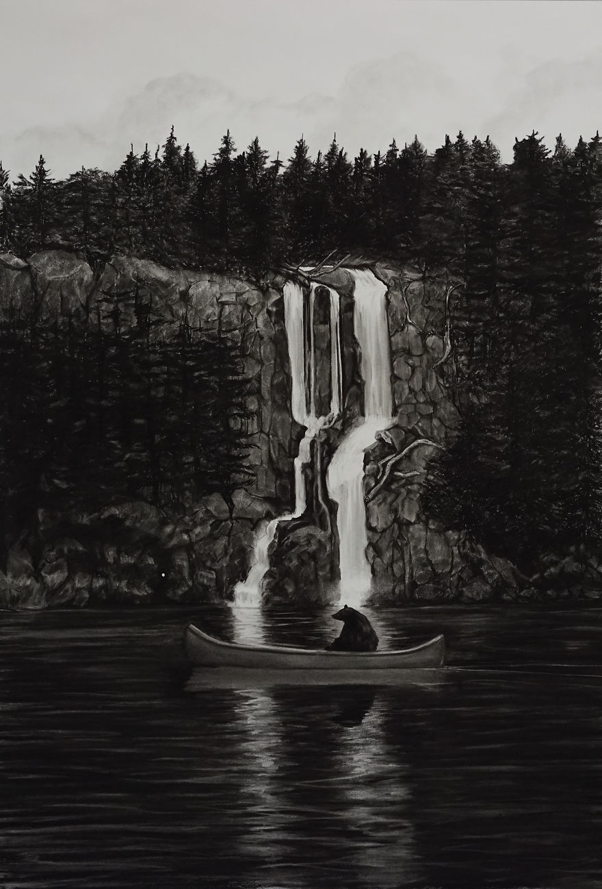 Amazing Charcoal Drawings By Trevor Guthrie