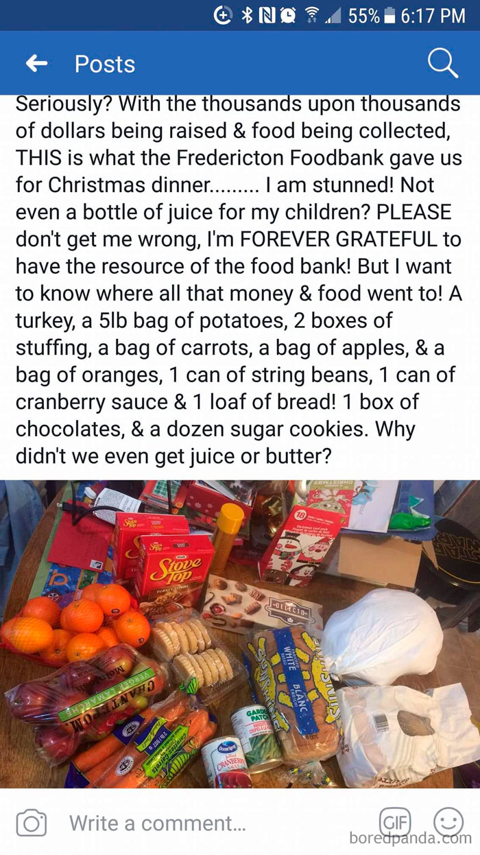 Poor Selection At The Food Bank