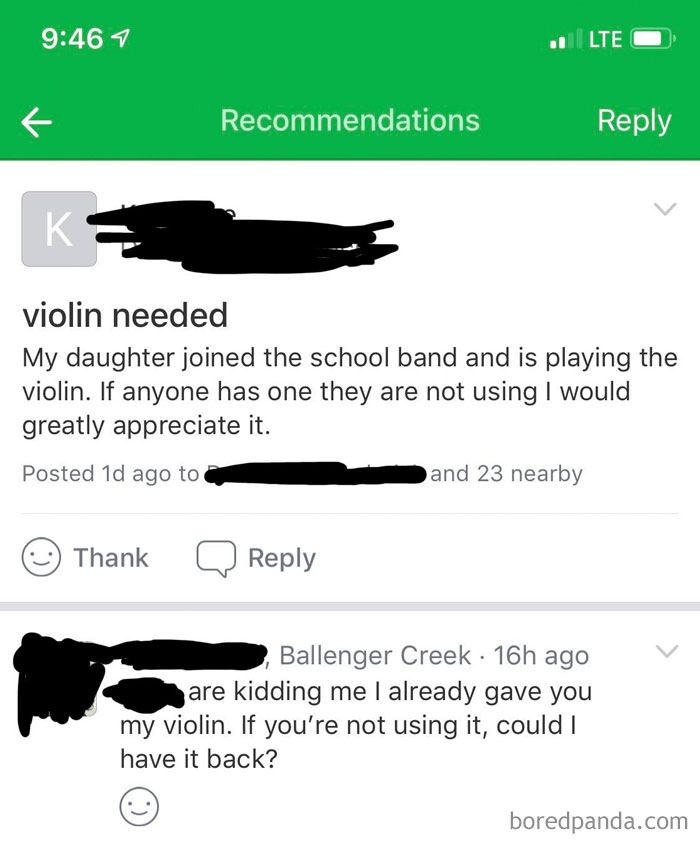 Can I Have Another Free Violin?