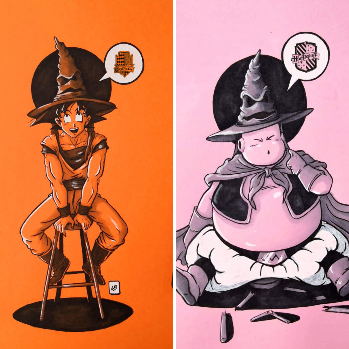 What Would Happen If The Harry Potter's Sorting Hat Shows Up In Dragon Ball's World?