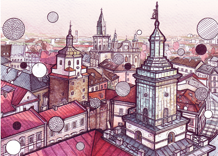 I Drew Lublin With Linear Art And Textures