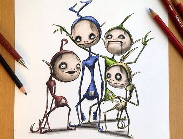 Artist Creepyfies 31 Of Your Favorite Cartoon Characters And They Will Give You Chills