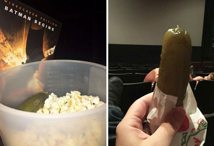 Turns Out That Texans Had No Idea No One Else Eats Pickles At Movie Theaters And It's Hilarious