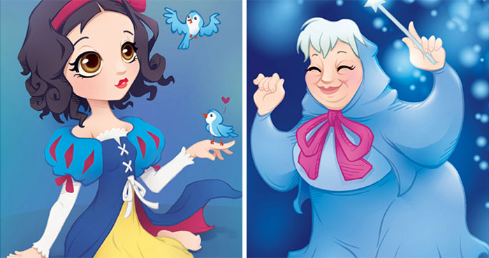 Artist Reimagines Our Favorite Disney Ladies In Her Own Style