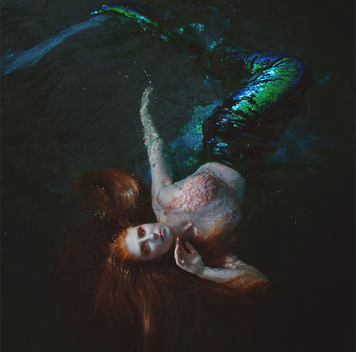 I Created A Dark Fantasy Photography Series About Mermaids Forced To Live On Land