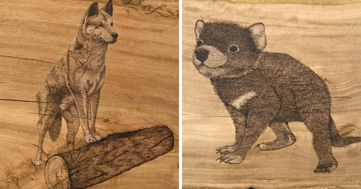 I Spend Hours Creating Unique Art By Burning Wood