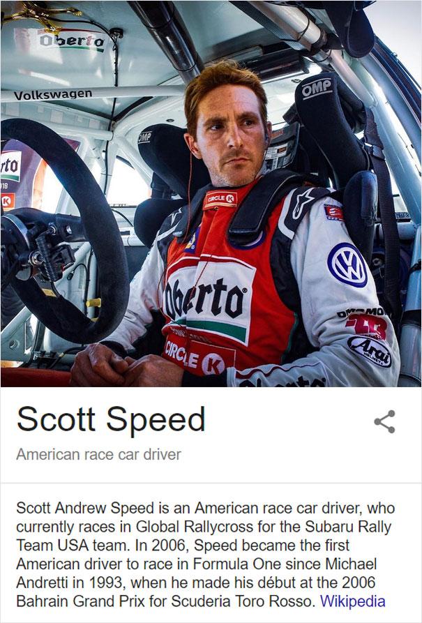 Race Car Driver Scott Speed