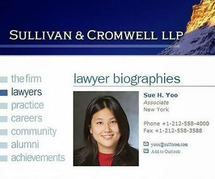 Anwältin Sue Yoo