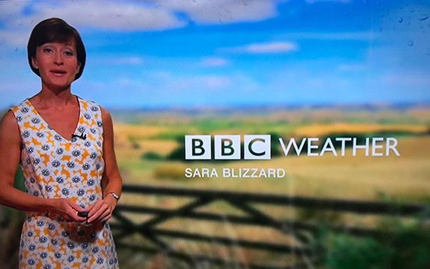 Weather Presenter Sara Blizzard