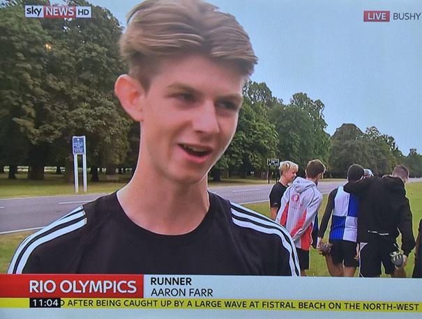 Runner Aaron Farr